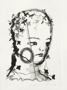 Claudia Rößger, Kreuzstich, 2008, 54x39cm Lithografie