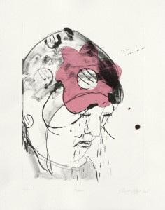Claudia Rößger, Tränen, 2008, 54x39cm Lithografie