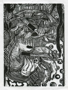 Gabriela Jolowicz, untitled, 2015, Holzschnitt