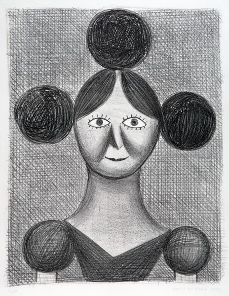 Christoph Ruckhäberle, o.T. woman, 2007, Lithografie