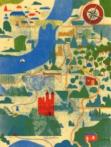 Blexbolex, Carte, 2013, 35x26 cm, Siebdruck auf Reispapier, Auflage 20