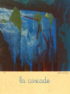 Blexbolex, La cascade, 2013, 35x26 cm, Siebdruck auf Reispapier, Auflage 20
