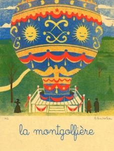 Blexbolex, La montgolfiere, 2013, 26x35 cm, Siebdruck auf Reispapier, Auflage 20