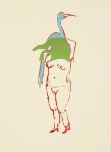 Anija Seedler, Animateur 1, 2012, Siebdruck