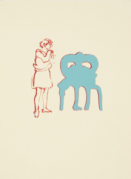 Anija Seedler, Animateur 2, 2012, Siebdruck