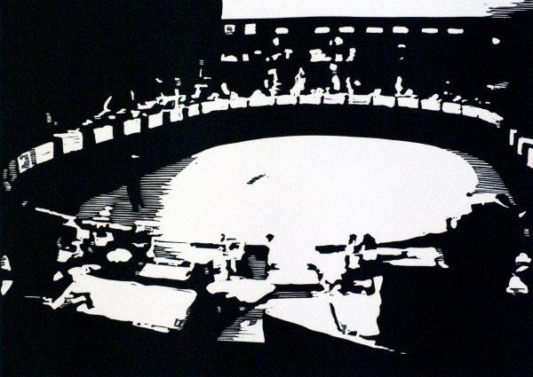 Tom Fabritius, o.T., 2007, Linolschnitt