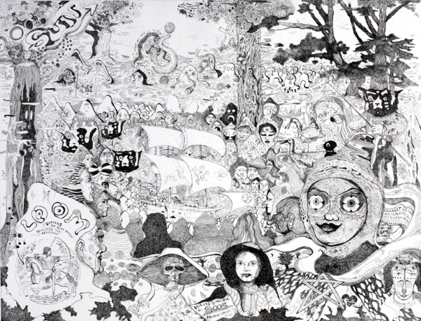 Master under the cape,  2005, Aetzung, 49 x 64 cm