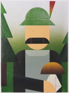 Benjamin Badock, Pilzfreund, 2014, Hochdruck