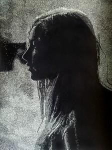 Angelika, 42x31cm, Linolschnitt, 2015, Auflage 15+2