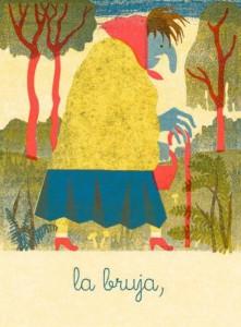 Blexbolex, La sorcière, 2013, 26x35 cm, Siebdruck auf Reispapier, Auflage 20