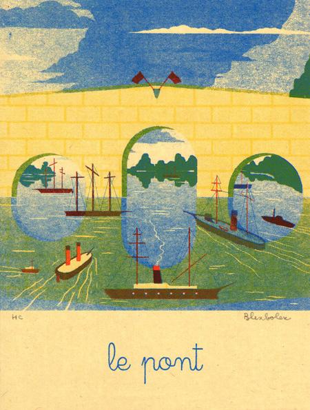 Blexbolex, Le pont, 2013, 26x35 cm, Siebdruck auf Reispapier, Auflage 20