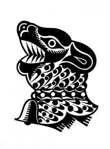 SG, untitled Fisch, 2015, 70x50cm, Linocut