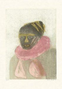 Katrin Stangl, Frau II, 2006, Holzschnitt