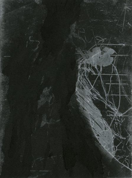 Eva Walker, Vermessung 23, 24x18cm, Radierung, 2015