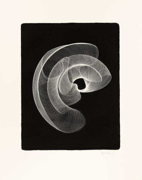 Maribel Mas, Zeitlinien3, Litho 3, 2016, Lithografie