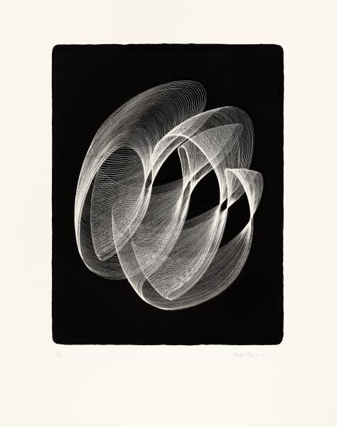 Maribel Mas, Zeitlinien Litho 4, 2016, Lithografie