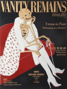 Julienne Jattiot, Vanity Remains Februar, 2014, Linolschnitt