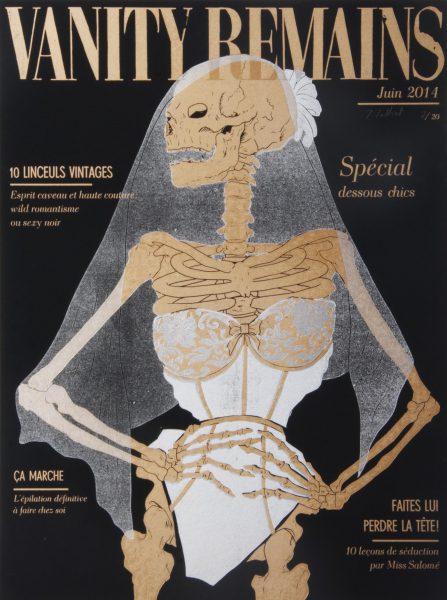 Julienne Jattiot, Vanity Remains Juni, 2014, Linolschnitt