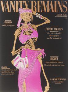 Julienne Jattiot, Vanity Remains Juli, 2014, Linolschnitt