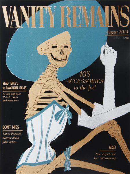 Julienne Jattiot, Vanity Remains August, 2014, Linolschnitt