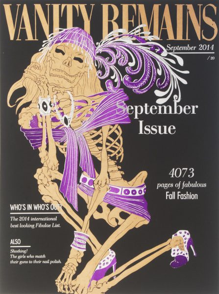 Julienne Jattiot, Vanity Remains September, 2014, Linolschnitt