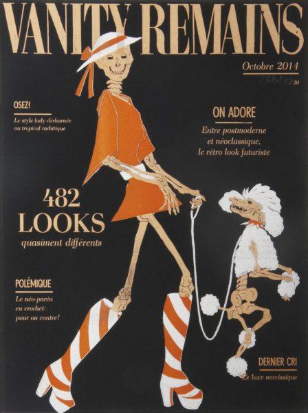 Julienne Jattiot, Vanity Remains Oktober, 2014, Linolschnitt