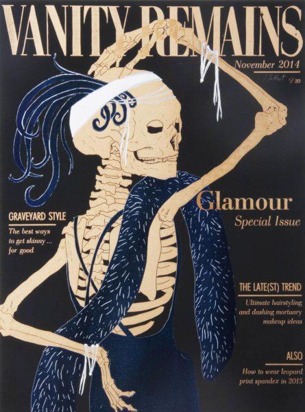 Julienne Jattiot, Vanity Remains November, 2014, Linolschnitt
