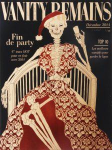 Julienne Jattiot, Vanity Remains Dezember, 2014, Linolschnitt