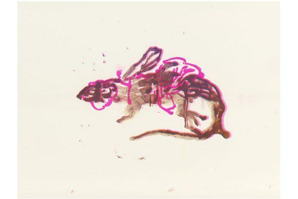 Anija Seedler, Geflügeltes Reptil I, Risografie