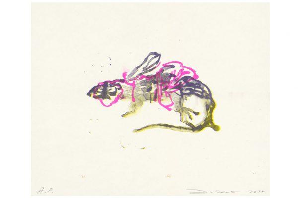 Anija Seedler, Geflügeltes Reptil II, Risografie
