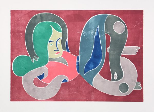 Christoph Ruckhäberle, untitled, 2018, 50x70cm, Holzdruck