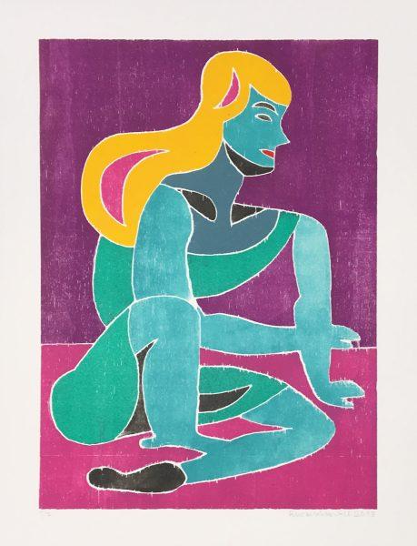 Christoph Ruckhäberle, untitled, 2018, 70x50cm, Holzdruck