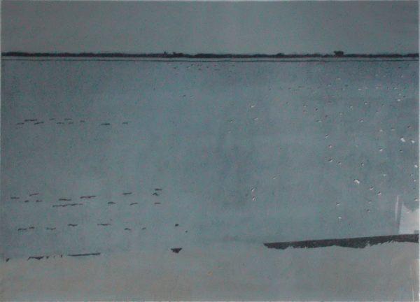 Christine Ebersbach, Bodden, 2019, 60x80 cm, Farbholzschnitt