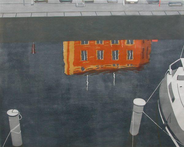 Christine Ebersbach, Marina, 2018, Farbholzschnitt, 80 x 102 cm