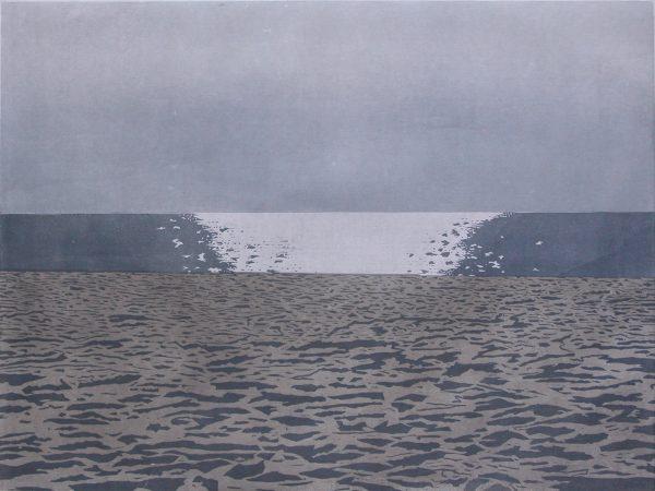 Christine Ebersbach, So ein Tag, 2017, Farbholzschnitt, 60 x 80 cm