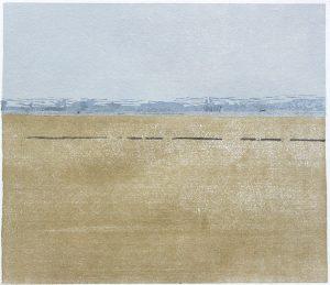 Christine Ebersbach, Ebene, 2011, Farbholzschnitt, 26 x 30 cm