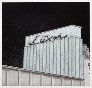 Philipp Hennevogl, Luxor, 2015, Linolschnitt, 56 x 57 cm