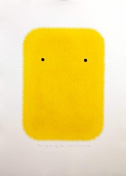 Henriette Grahnert, My Son My Sun, 2019, 59 x 42 cm, Lithografie