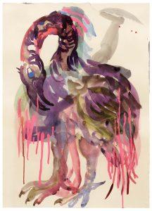 Anija Seedler, Vanitas, 2019 Pigmenttusche auf Papier