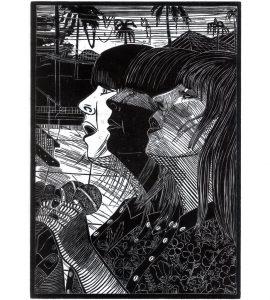 Gabriela Jolowicz, Cat Power, 2020, Holzschnitt