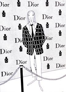 Anna Haifisch, Dior, 2021, 84,1 x 59,4 cm, Siebdruck